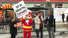 Alberta's first Jollibee's restaurant opened in Edmonton on Friday.