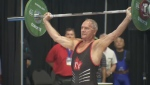 Elderly competitive weightlifters