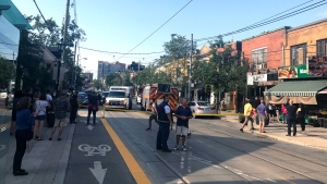 A fatal shooting took place in Roncesvalles on August 16, 2019. (CP24 / Kelly Linehan)