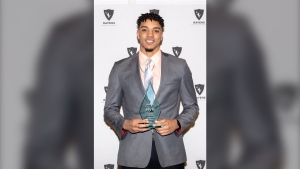 Former Carleton Ravens basketball star Eddie Ekiyor named MVP and Male Athlete of the Year in March / Photo: Carleton University Basketball