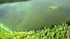 Detecting blue-green algae using aerial imagery