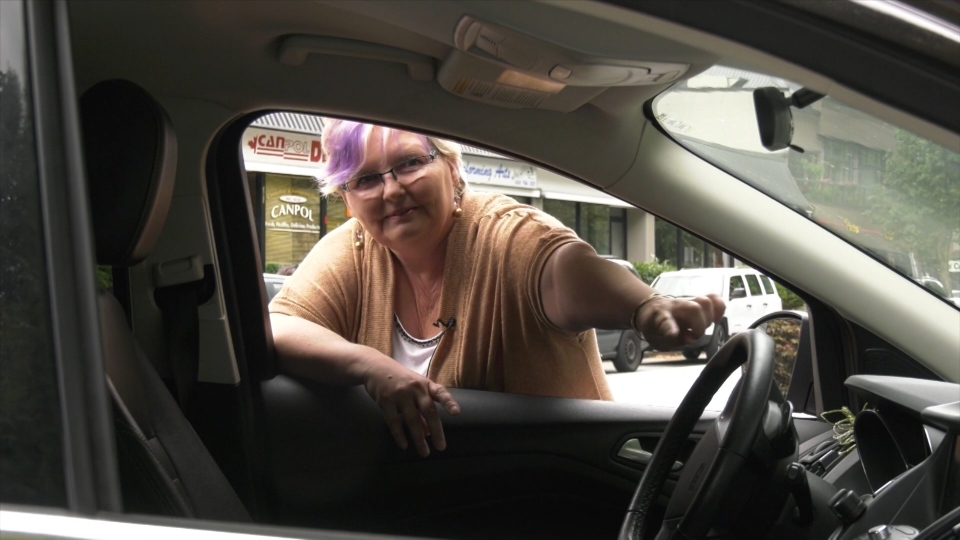 When Terri McPhail returned to her car and found both doors wide-open she was convinced someone had broken in. (CTV)
