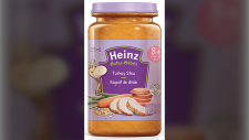 The Canadian Food Inspection Agency says it is recalling Kraft Heinz Canada's turkey stew product for babies over eight months.