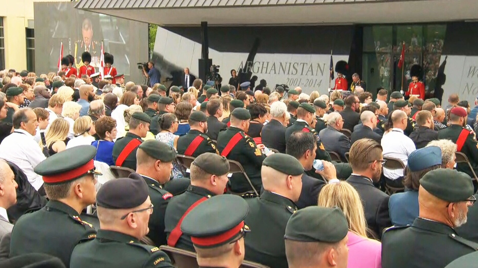 Ceremony honouring Canada's fallen soliders