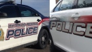 WRPS and Guelph cruisers are shown. (Matt Harris and Phil Molto / CTV Kitchener)