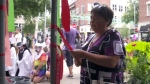 Montrealers gathered to remember Canadian victims of AIDS and to call on the federal government to contribute $925 million over three years to fight the disease globally on Sat., Aug. 17, 2019.