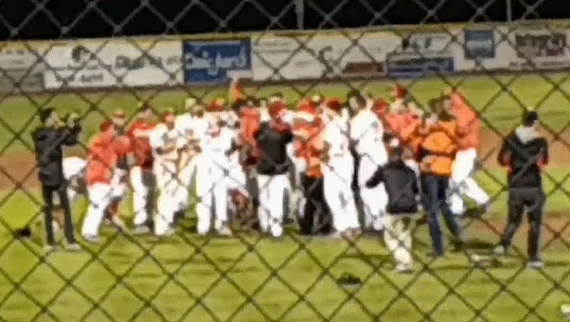 The Okotoks Dawgs celebrate their 2019 league championship in this file photo. The 2020 WCBL season has been cancelled due to COVID-19. (File photo)