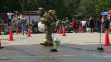 The top eight teams of aboriginal volunteer firefighters are going head-to-head in a variety of contests.