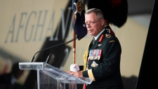 Chief of the Defence Staff Jonathan Vance speaks during the rededication ceremony of the Kandahar cenotaph at National Defence Headquarters in Ottawa on Saturday, Aug. 17, 2019. THE CANADIAN PRESS/Justin Tang