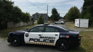 A Saanich police vehicle is seen in this file photo.