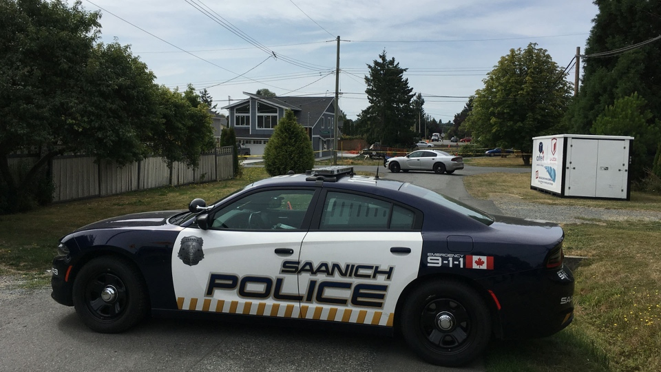 Saanich police are investigating an incident near the 100 block of Crease Avenue.