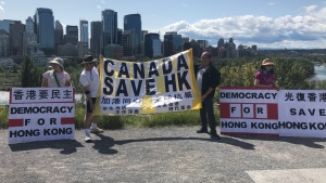 calgary, hong kong, protest, anti-chinese, democra