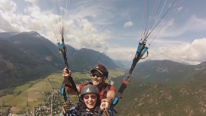 I was flying': 92-year-old goes paragliding in B C  | CTV News