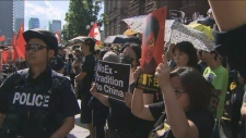 A Toronto march was organized in support of pro-democracy protests in Hong Kong for Aug. 17, 2019.