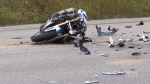 Motorcycle crash caught on camera