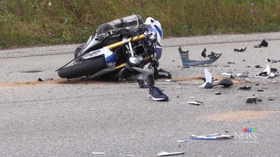 Motorcycle crash caught on camera
