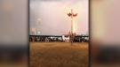 Lightning strikes during powwow