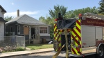 An afternoon fire damaged a home in the 1800 block of Halifax St.