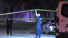 Police investigate a shooting in the area of Dixie Road and Advance Boulevard in Brampton Saturday August 18, 2019.