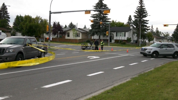 Calgary police are continuing to investigate a crash involving a pedestrian that took place on Saturday evening.