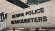 The sign in front of Regina Police Headquarters is pictured in this file photo. (Brendan Ellis/CTV News)