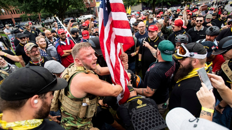 Proud Boys are a 'hate group, a racist group'