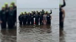 Dozens make Big Swim across Northumberland Strait