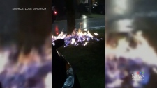 Lightning strikes gas line and sparks worry