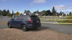 Police said they expected the area would be cordoned off until sometime on Monday. (CTV Vancouver Island)