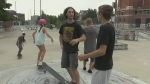 Kids learn to skateboard for free