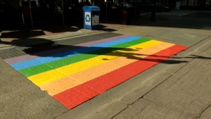 Hate crime involving Pride crosswalk