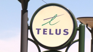 The Telus logo is seen in this undated file photo. (CTV)