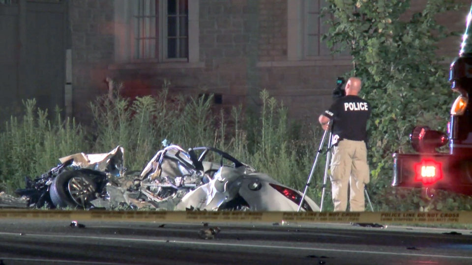 The scene of a deadly collision in Richmond Hill is seen. (CTV News Toronto)