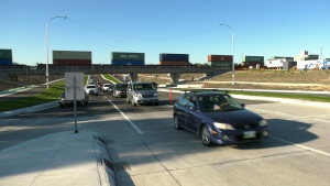 The Waverley Street Underpass is officially open to drivers. (Source: CTV Winnipeg)