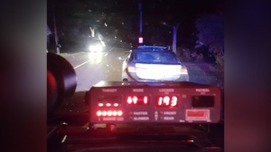 A driver has had his car impounded and his license suspended after police say he was clocked going 193 km/h. (@OPP_WR / Twitter)