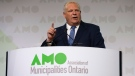 Ontario Premier Doug Ford speaks at the Associations of Municipalities Ontario conference in Ottawa, Monday August 19, 2019. THE CANADIAN PRESS/Adrian Wyld