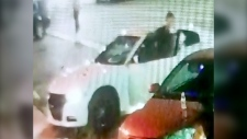 Police are asking for information finding a white car connected to an assault outside a Lethbridge bar. (Lethbridge police)