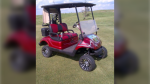 This 2014 custom made golf cart was taken from Triple Creek Golf Course in Wetaskawin (Supplied)