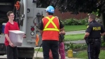 Service restored after lightning hits gas line