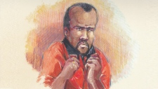 Silva Koshwal, seen in this Aug. 31, 2015, court sketch is accused of murdering his ex-girlfriend.