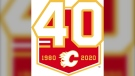 The Flames will have this logo at centre ice for the 2019-2020 season to celebrate their 40th anniversary. (Calgary Flames)
