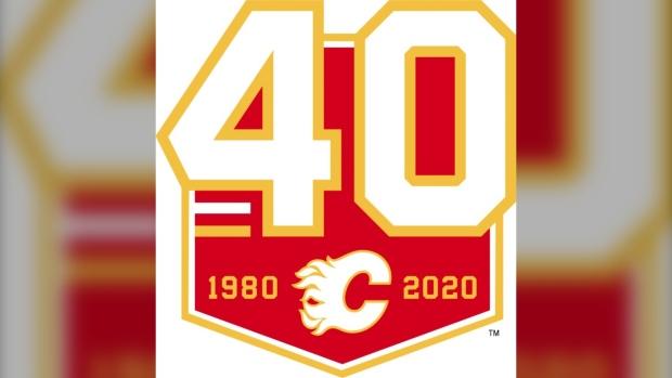 Calgary Flames centre ice logo