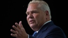 Ontario Premier Doug Ford speaks at the Associations of Municipalities Ontario conference in Ottawa, Monday, August 19, 2019. THE CANADIAN PRESS/Adrian Wyld