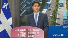 PM Trudeau makes announcement in Quebec City