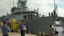The ship and its crew returned to Esquimalt on August 19, 2019. (CTV Vancouver Island)
