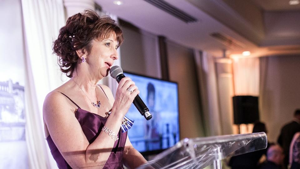 Teresa Dellar at a fundraising gala