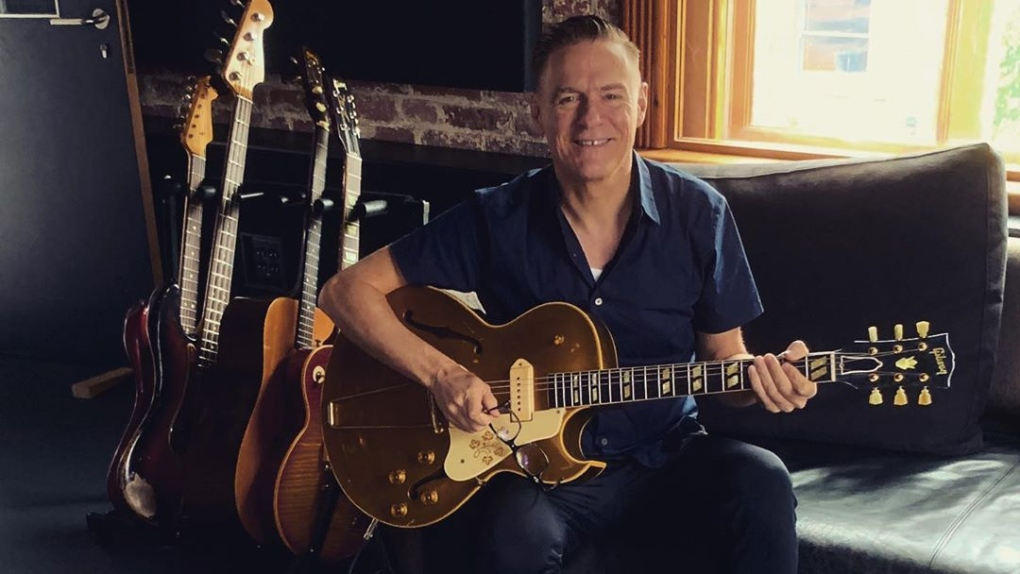 Bryan Adams teases new music from Vancouver recording studio