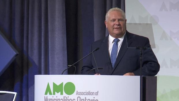 Ontario Premier Doug Ford at AMO in Ottawa.