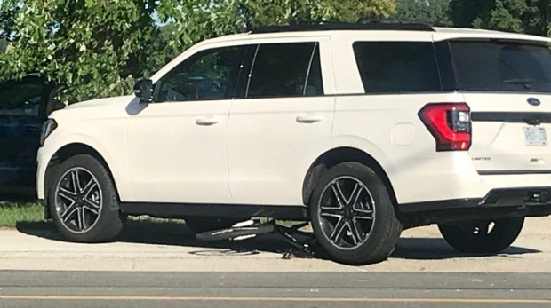 LaSalle Police are investigating after a cyclist was struck by a vehicle on August 19, 2019. ( Rich Garton / CTV Windsor )