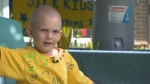 Sam Cargill, of Ajax, started a lemonade stand to raise funds for the hospital where he undergoes treatment. (CTV News Toronto)